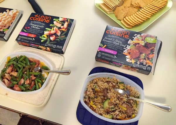 Some of our Lean Cuisine meals for the evening