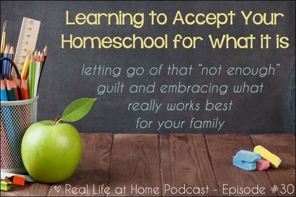 "Learning to Accept Your Homeschool for What It Is {Letting go of that ""not enough"" guilt and embracing what really works best for your family}"