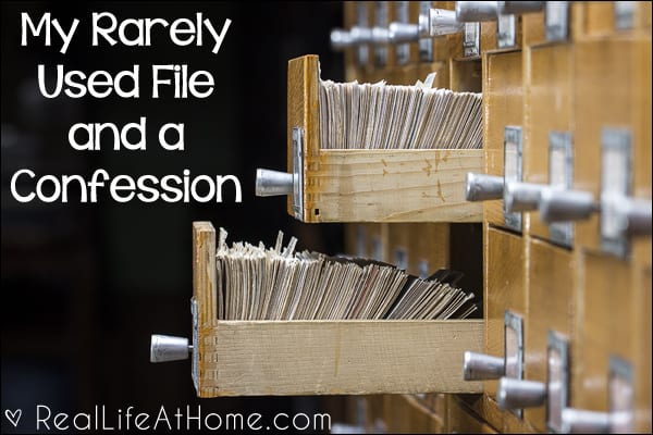 My Rarely Used File and a Confession {The sad story of being confronted by truths about my spiritual life}