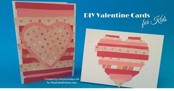 Easy DIY Valentine Cards for Kids