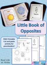 My Little Book of Opposites (Free Printable)