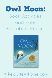 Book Activities and a Free Printable Packet for Owl Moon by Jane Yolen