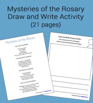 Misterele din Rosar Draw and Write Activity Packet (gratuit pentru abonați)