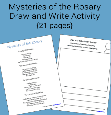 Mysteries of the Rosary Draw and Write Activity Packet (Free for Subscribers)