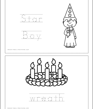 Saint Lucy Mini Book Pages (Also available in a Saint Lucia version)