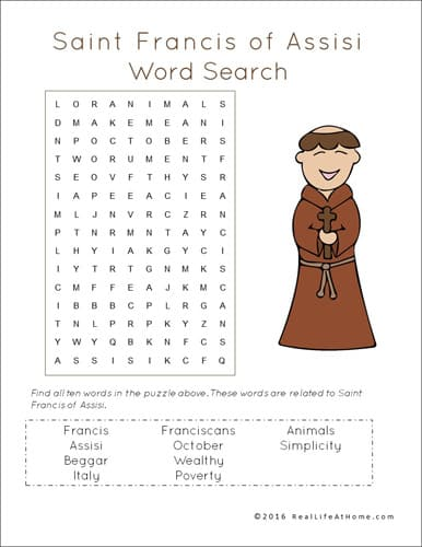 photograph regarding St Francis Prayer Printable identified as St. Francis of Assisi Printables and Worksheet Packet