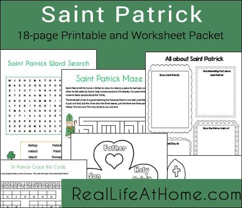 Saint Patrick Printables and Worksheet Packet
