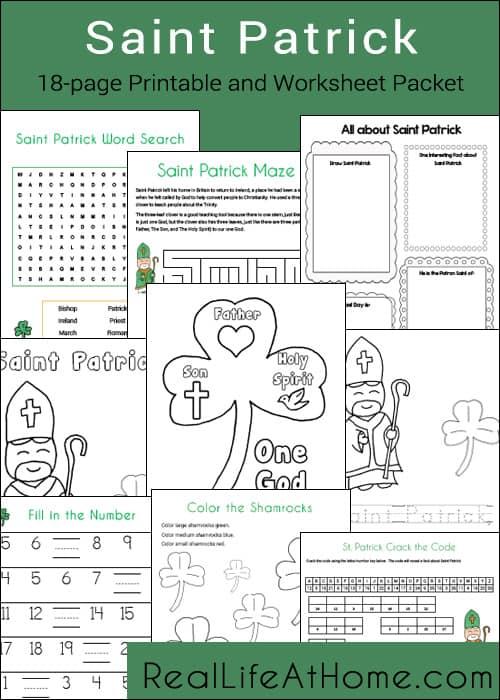 Saint Patrick Printables Packet Real Life At Home