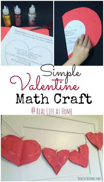 Simple Valentine Math Craft - Working on Symmetry