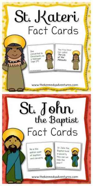 saint fun fact cards