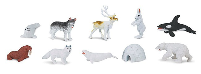 Arctic Animals Figures Play Set