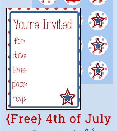 Free 4th of July Party Printables {Plus Tips to Make Throwing a Party Easier}