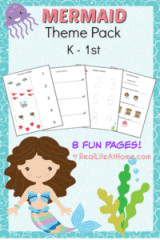 Mermaid Printables Packet for Preschool and Kindergarten