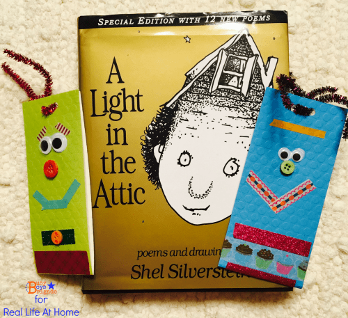 creative and customizable project using washi tape (and other supplies) to make monster themed DIY bookmarks