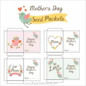 Free Printable Mother's Day Seed Packets