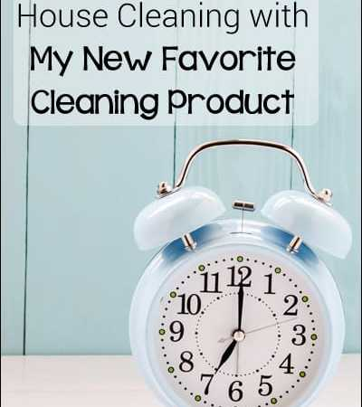 Cutting Time off House Cleaning with My New Favorite Cleaning Product