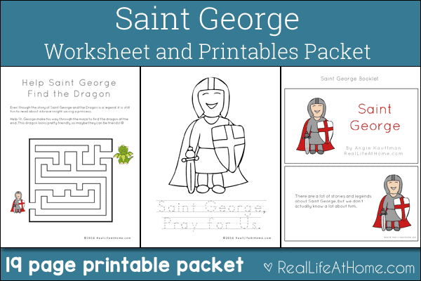 Saint George Printables and Worksheet Packet