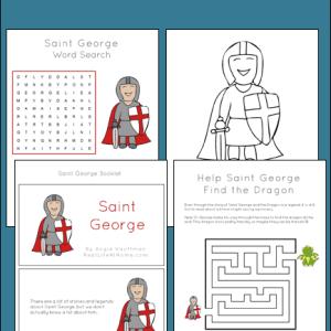 19-page Saint George Printables and Worksheet Packet