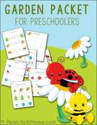 Getting ready for some garden fun with preschoolers? Enjoy this free garden printables packet!