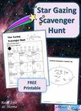 Printable Star Gazing Scavenger Hunt