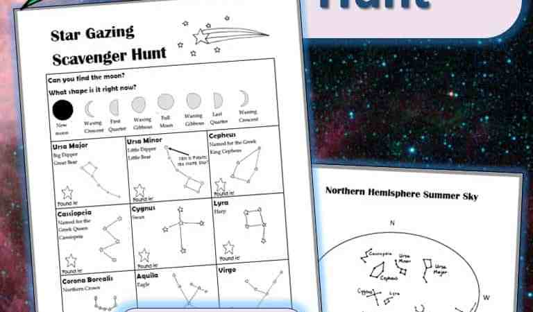Printable Star Gazing Scavenger Hunt