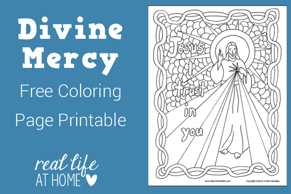 Divine Mercy Coloring Page {Free Printable}