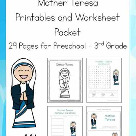 Studying about Mother Teresa? Check out this 29-page Mother Teresa Printable Packet