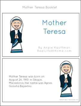 Mother Teresa Mini Book Pages