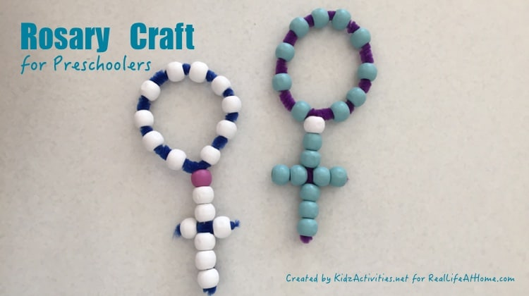 Easy and Inexpensive Rosary Craft for Kids