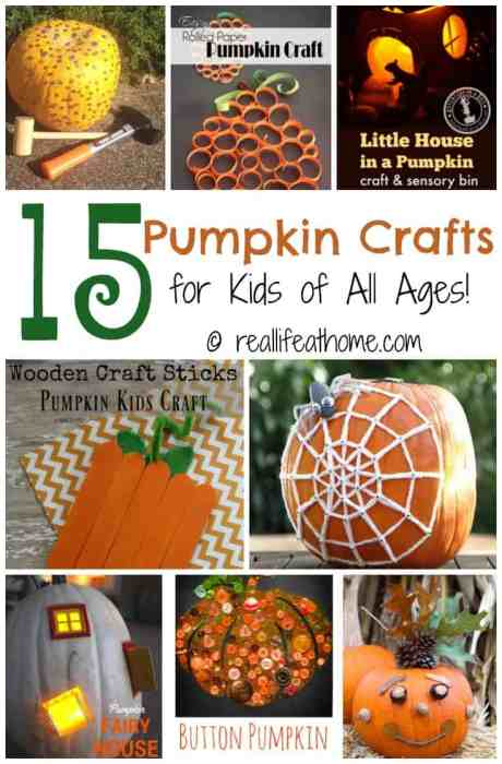 With autumn just arriving, now is the perfect time to gather your art supplies and make some pumpkin crafts with your favorite kiddos! | Real Life at Home