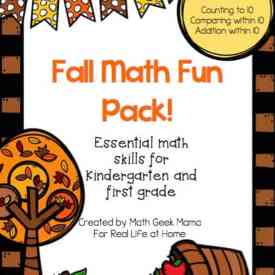 Fun Math Printables: Fall Worksheets for First Grade and Kindergarten