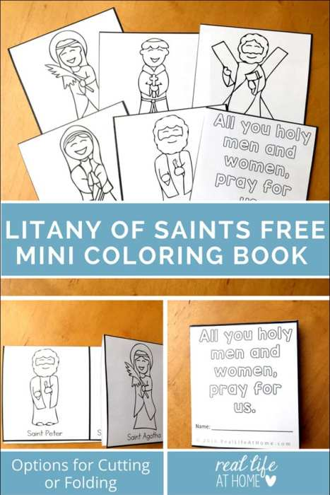 All Saints\' Day Coloring Page: Litany of Saints Mini Book