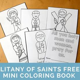 All Saints Day Coloring Page Litany Of Mini