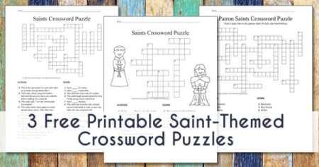 Saint Crossword Puzzles