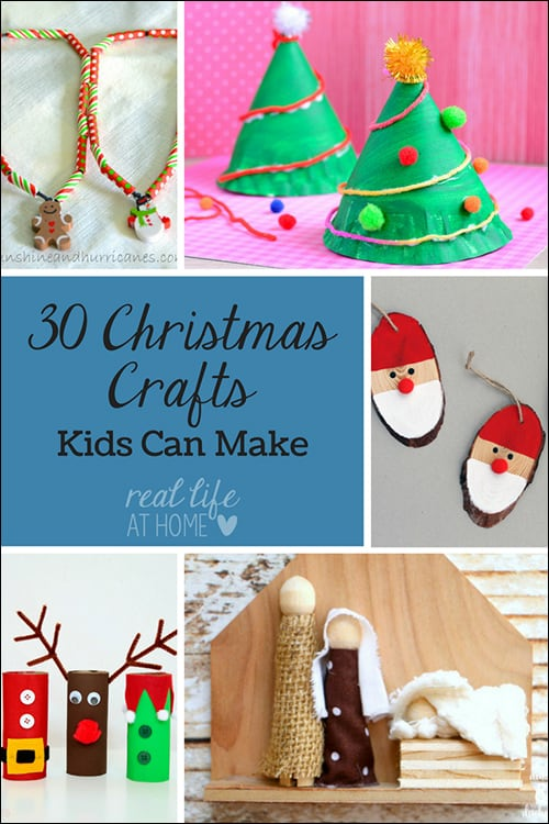 Looking for some fun Christmas crafts for kids? Here are 30 fabulous ideas for Christmas crafts, garland, gifts, and more that kids can make.