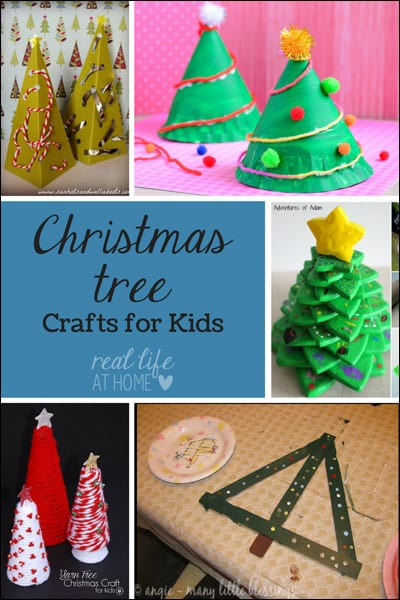 Want some fun Christmas tree crafts? Visit for Christmas tree crafts that kids can make. | Real Life at Home