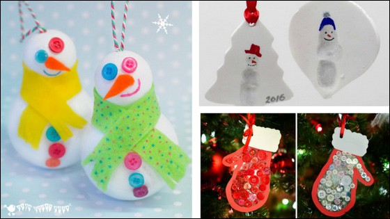 christmas ornament crafts for kids - Kids Christmas Ornaments