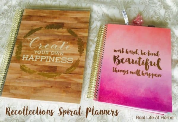 Recollections Spiral Planners are great options for busy moms.