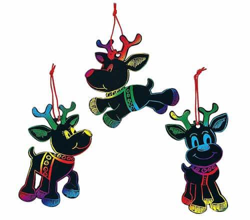 Reindeer Scratch Art Kit