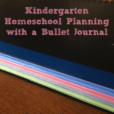 Keep it simple and plan Kindergarten with a bullet journal!