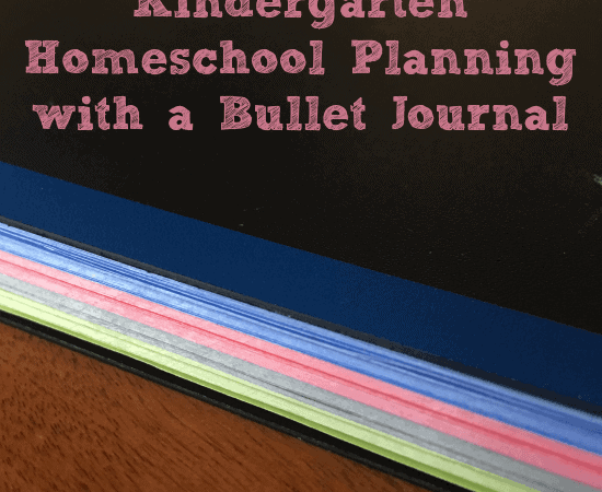 Kindergarten Homeschool Planning with a Bullet Journal