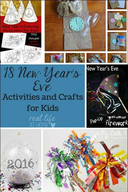 Looking for some fun New Year's Eve activities that are kid-friendly? Come check out 18 ideas for New Year's activities, crafts, printables, and more! | Real Life at Home