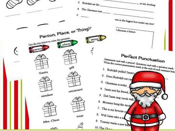 Christmas Literacy Printables Packet