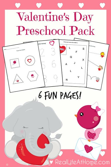 graphic relating to Valentine Printable Worksheets named 6 Website page Packet: Valentines Working day Printables for Preschoolers