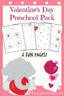 Looking for some Valentine's Day printables and worksheets? Click through to get the instant downloadable packet of Valentine's Day printables for preschoolers