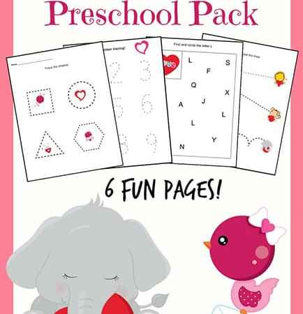 Valentine's Day Printables for Preschoolers