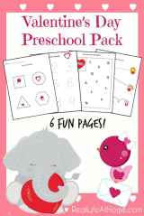 Valentine's Day Printable for Preschoolers