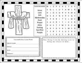 Lent Activity Page Free Printable