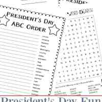 8 Fun Pages: Presidents' Day Worksheets and Printables Packet