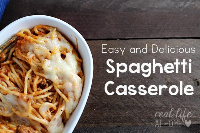 Delicious and Easy Spaghetti Casserole Recipe
